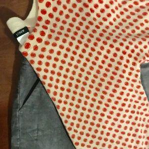 J. Crew outfit! Apple print sweater corduroy skirt